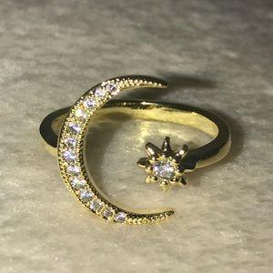 Beautiful Star & Moon Ring